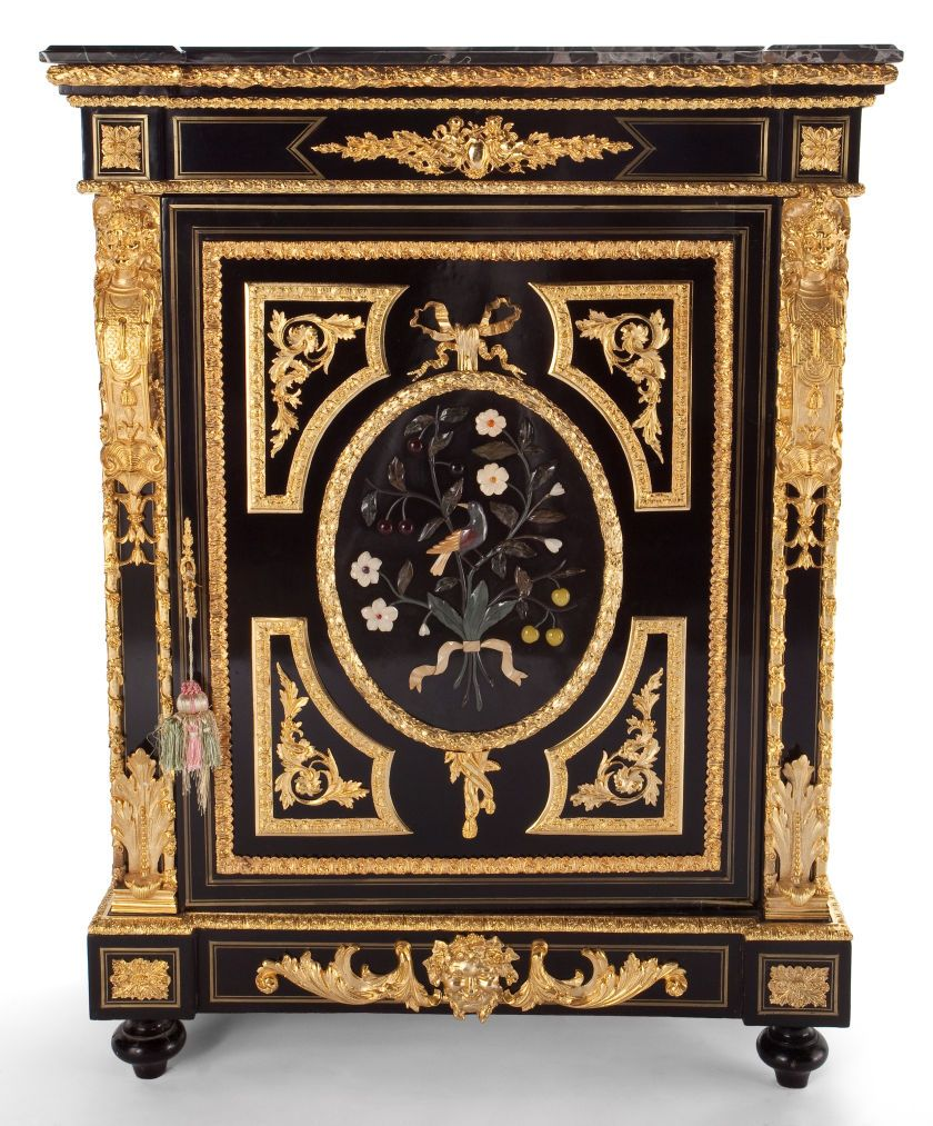 Meuble Louis A Louis Xvi Style Lacquered Gilt Bronze Mounted Cabinet With