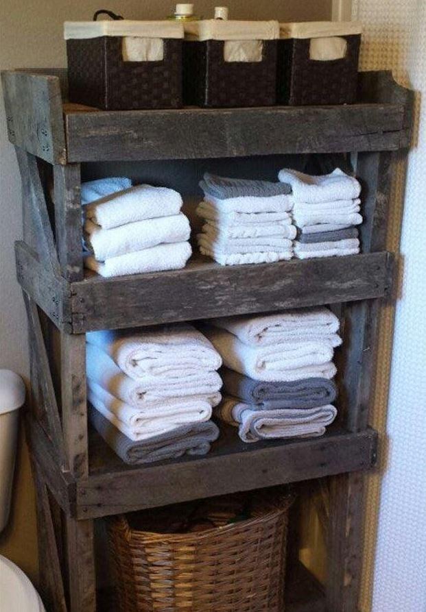 diy shelf ideas for bathroom%0A    Beautiful DIY Pallet Furniture Bathroom Ideas