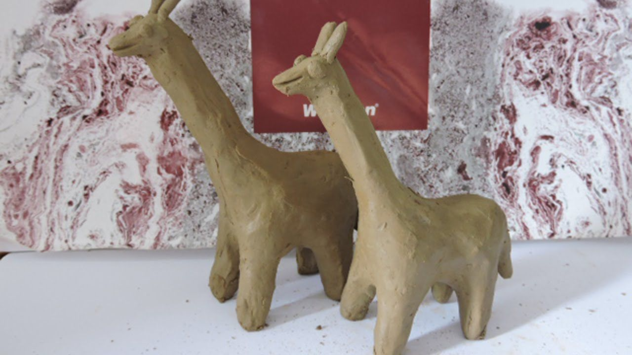 play doh giraffe making clay how to make clay animals for kids