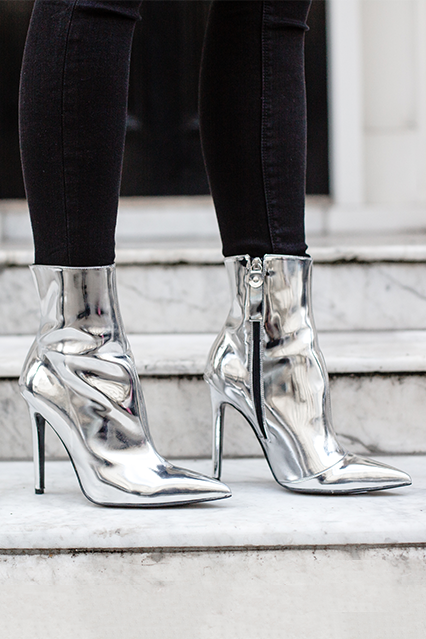 ca0ff3a7 High Heeled Boot from Kurt Geiger in metallic Silver | Wear Silver ...