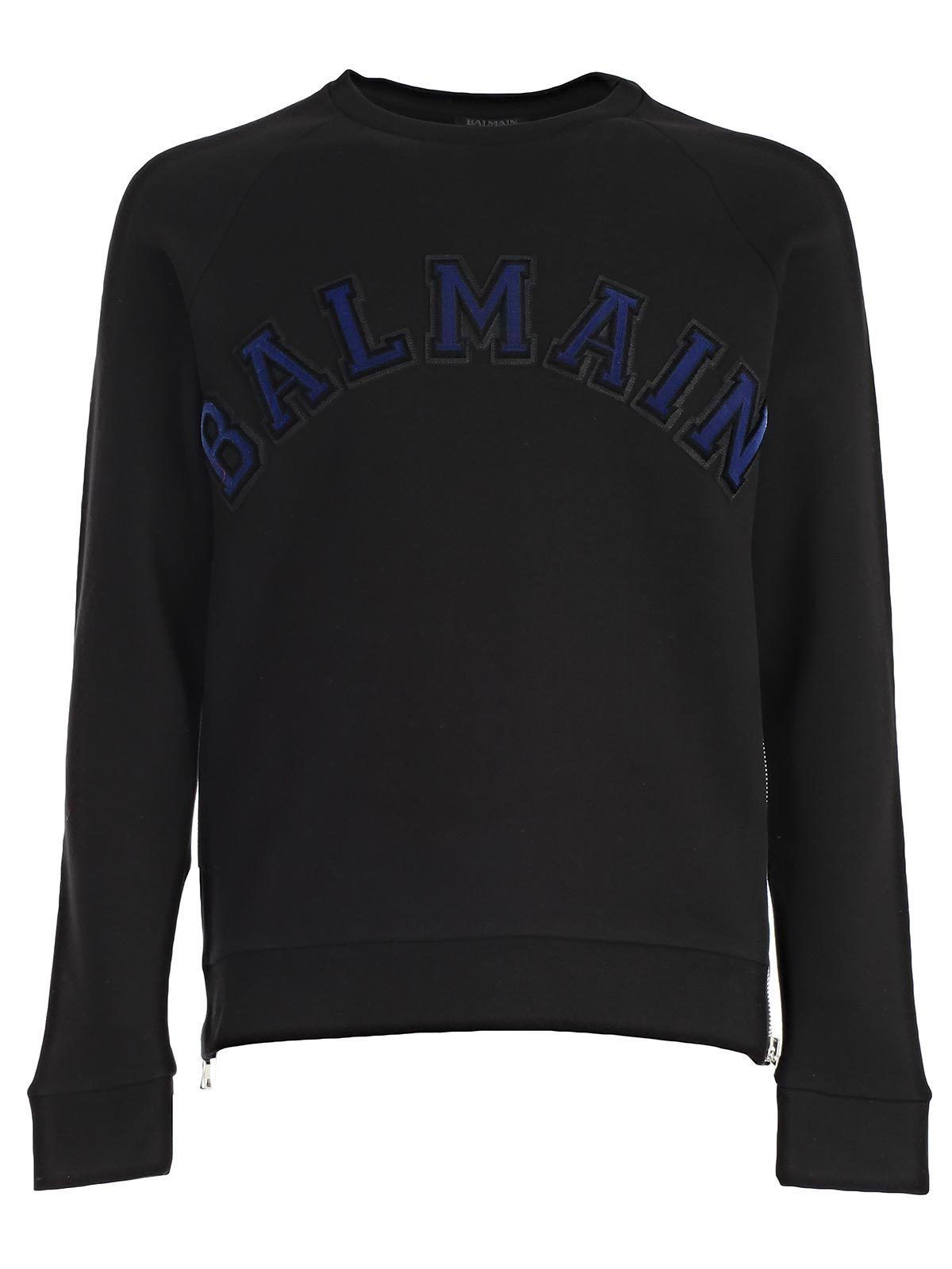 3380aef3b BALMAIN BALMAIN EMBROIDERED BRAND LOGO SWEATER.  balmain  cloth ...