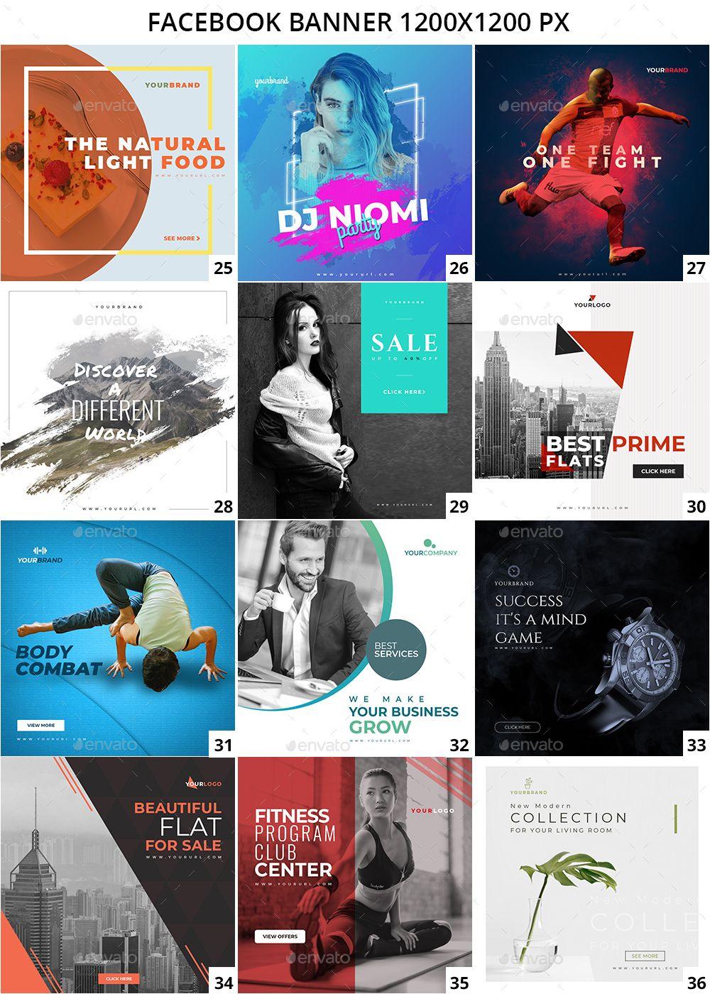 100 Facebook Multipurpose Banners Social Media Design Graphics Social Media Banner Facebook Ads Design