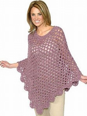 crochet pattern - alpaca boucle poncho From plymouthyarn.com | Knit ...