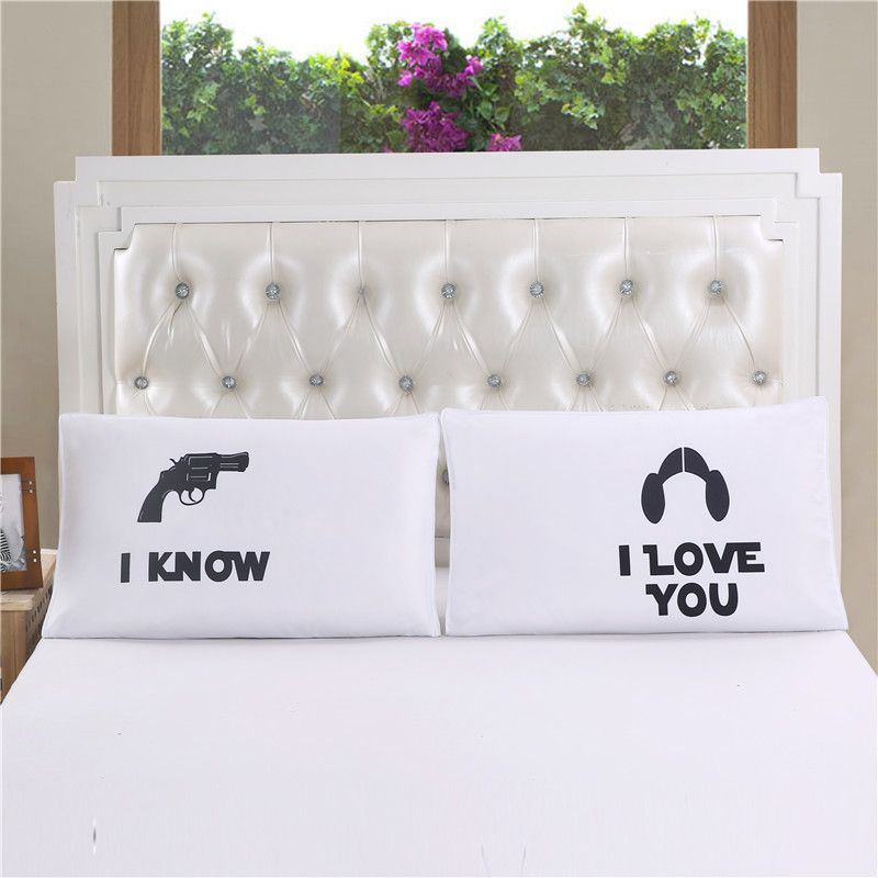 Idouillet I Know I Love You Couples Pillow Cases Cover 50x75cm