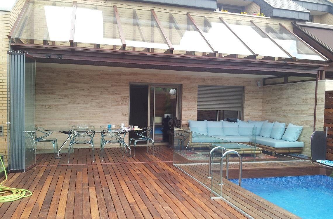 Cerramiento de porches con cristal sin perfiles for Cerramientos de cristal para terrazas