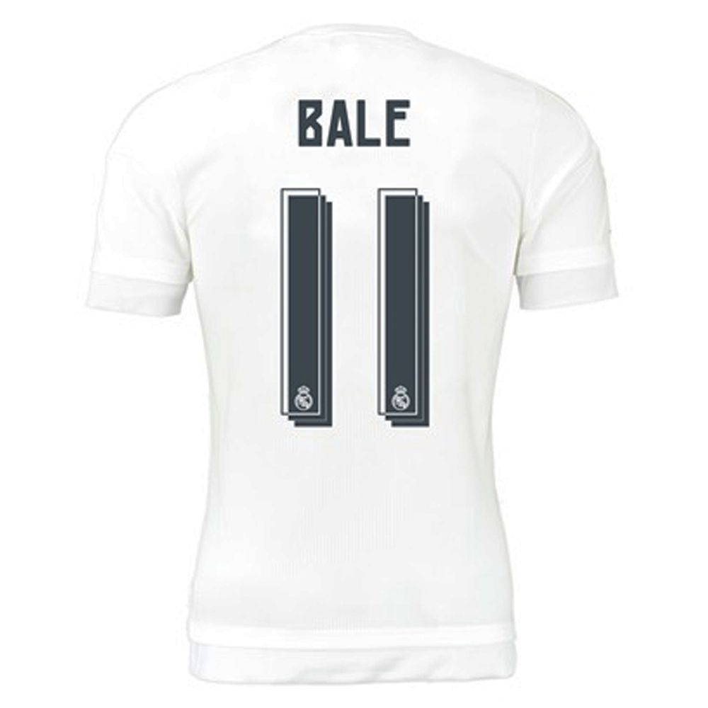 Real Madrid 'BALE 11' Home Youth '15-'16 Replica Soccer Jersey (White/Clear  Grey) | Real Madrid Soccer Jerseys | james Rodriguez Jersey | S12659 ...