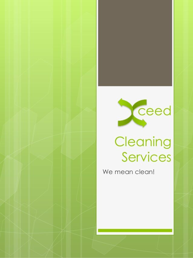 Ceed Cleaning Services We Mean Clean