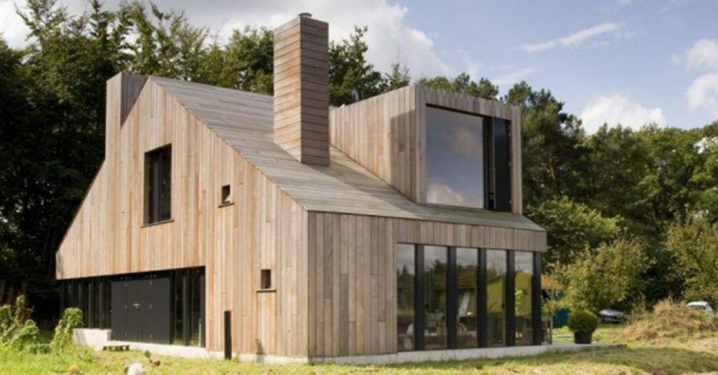 maison-bois-moderne-tout-bois-toit-bardage house additions
