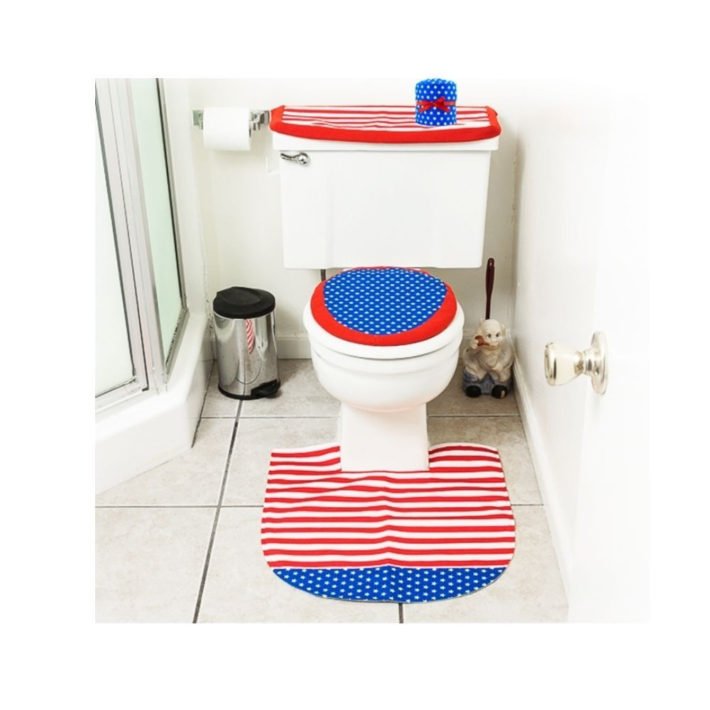 4th Of July Decorations Patriotic Toilet Seat Cover And Rug