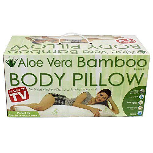 tv aloe vera bamboo body pillow