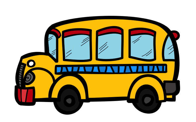 the creative chalkboard free school bus clipart and kids bundle rh pinterest co uk free school bus clipart black white free school bus clip art black and white