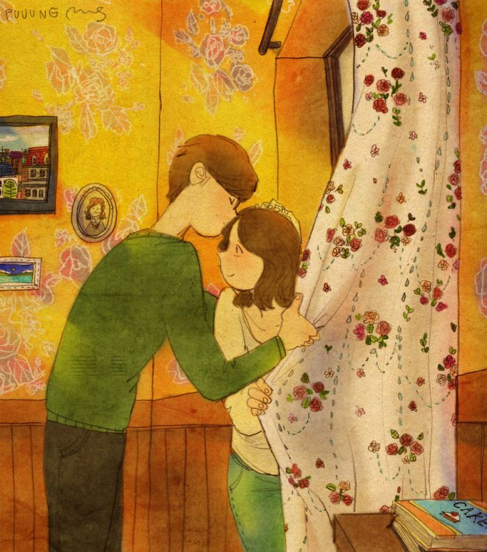 Love Is Sweet Couple Small Things And Illustration Art - Cute illustrations capture how love is in the small things
