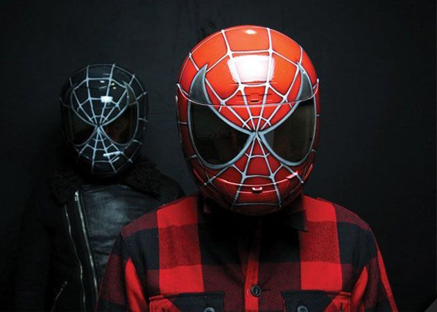 Spider-Man Motorcycle Helmet