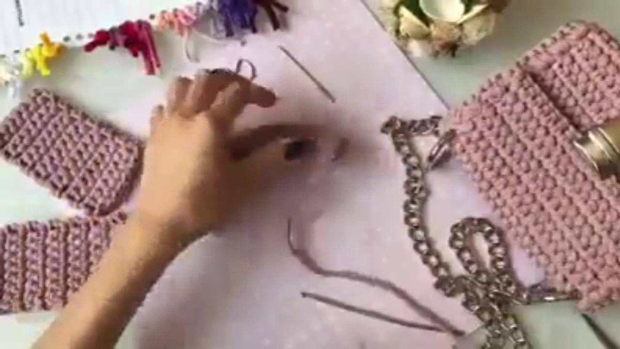 Passo a passo de bolsa de crochê feita com fio de malha! – Tutoriais
