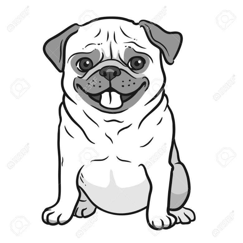 15 Cute Cartoon Pug Drawing Cartoon Drawing Drawingpencilwiki Com Dog Drawing Pug Cartoon Pug Art