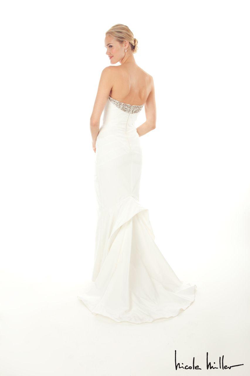 Modelbride Nicole Miller Georgina Bridal Gown Antique White