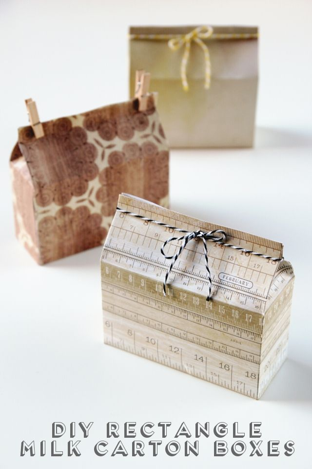 DIY RECTANGULAR MILK CARTON BOXES. | Gifts | Pinterest | Carton box ...