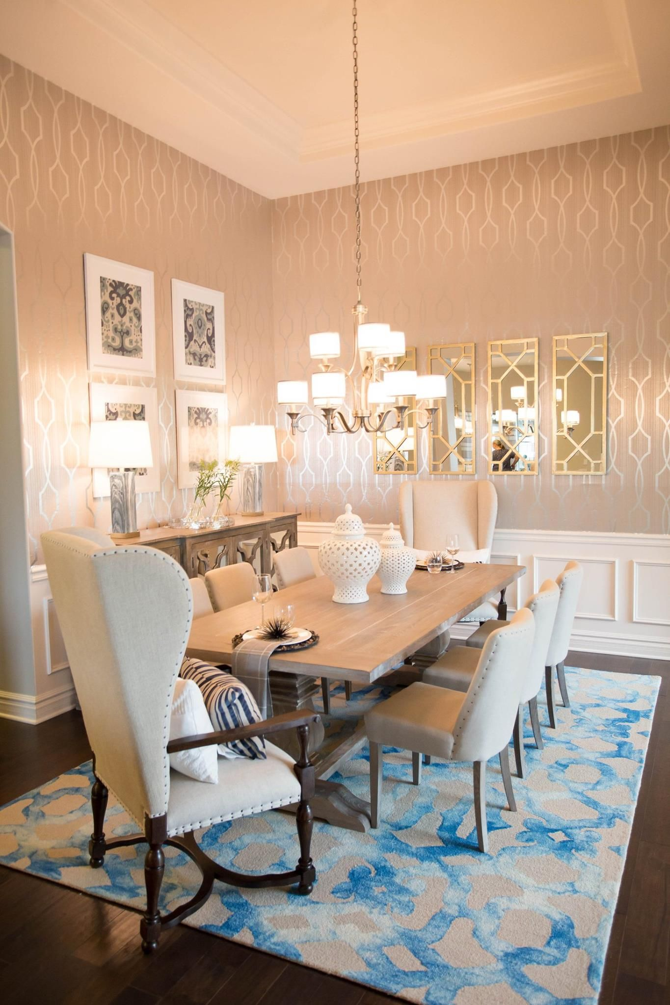 Romantic Dining Room Romance Glam Traditional Transitional Goals Inspo