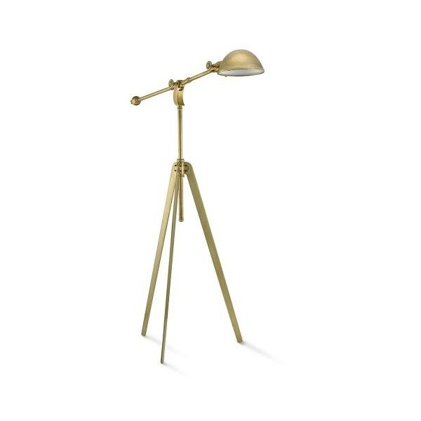 Williams Sonoma Pimlico Tripod Floor Lamp 600 Liked On Polyvore Featuring Home Lighting Lamps Horizontal Shades Angled