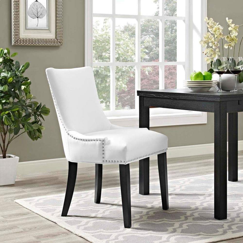 Modway Marquis Faux Leather Dining Chair Faux Leather Dining