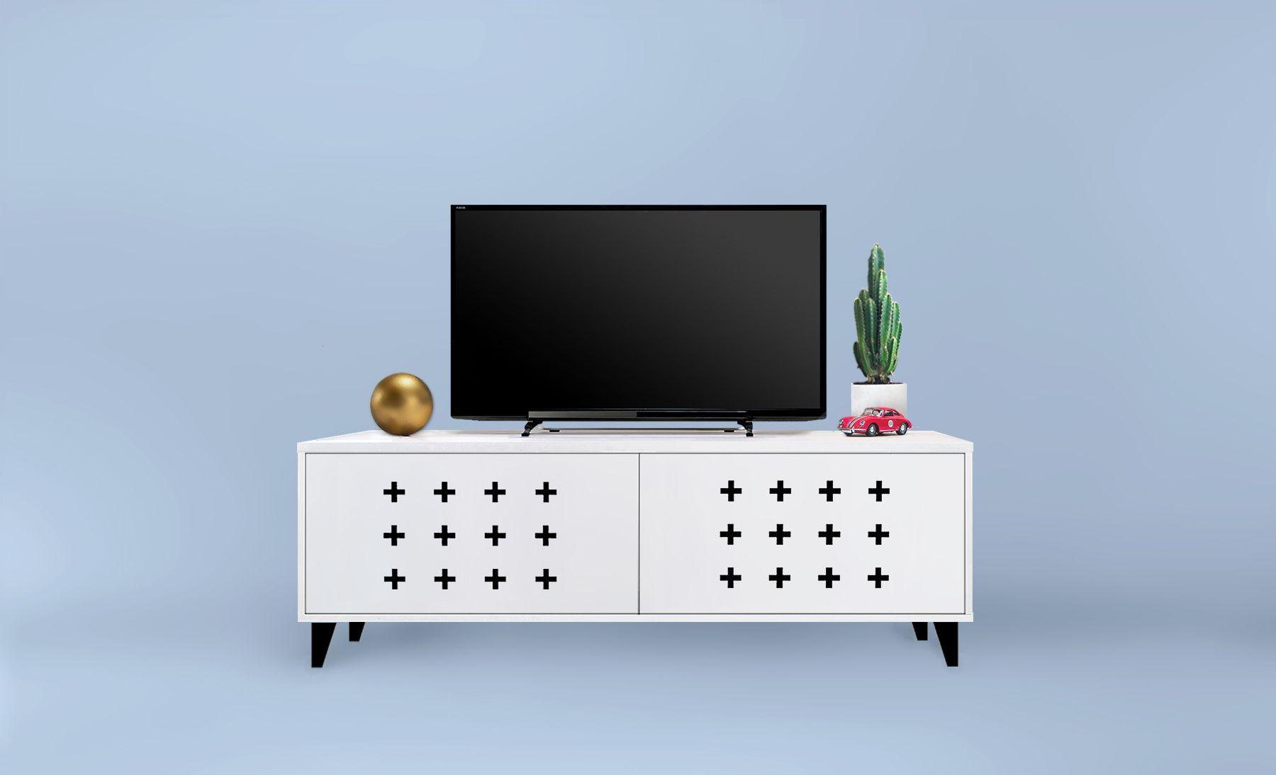 Lowboard 140 Cm X Mark Pattern Tv Sideboard Patterned Furniture Sideboard Media Cabinet