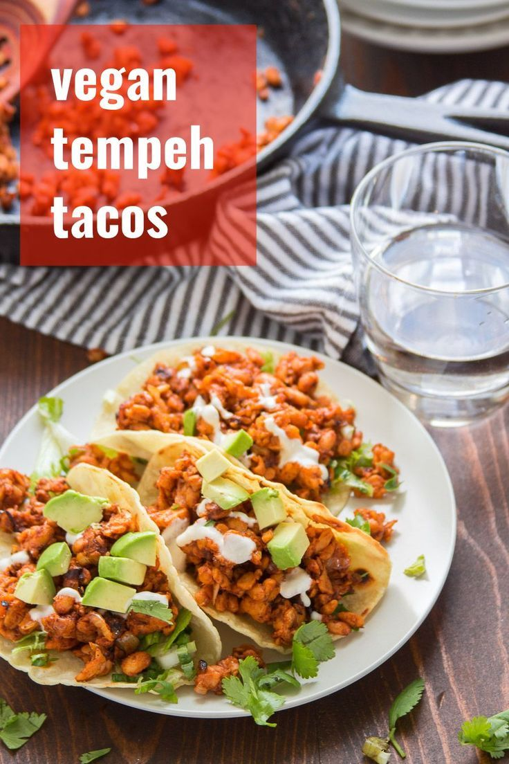 Hearty, crumbly, and packed with protein...tempeh makes the best vegan taco filling! These chipotle tempeh tacos are delicious, super easy to whip up, and perfect for weeknight dinners. On the table in 20 minutes!
