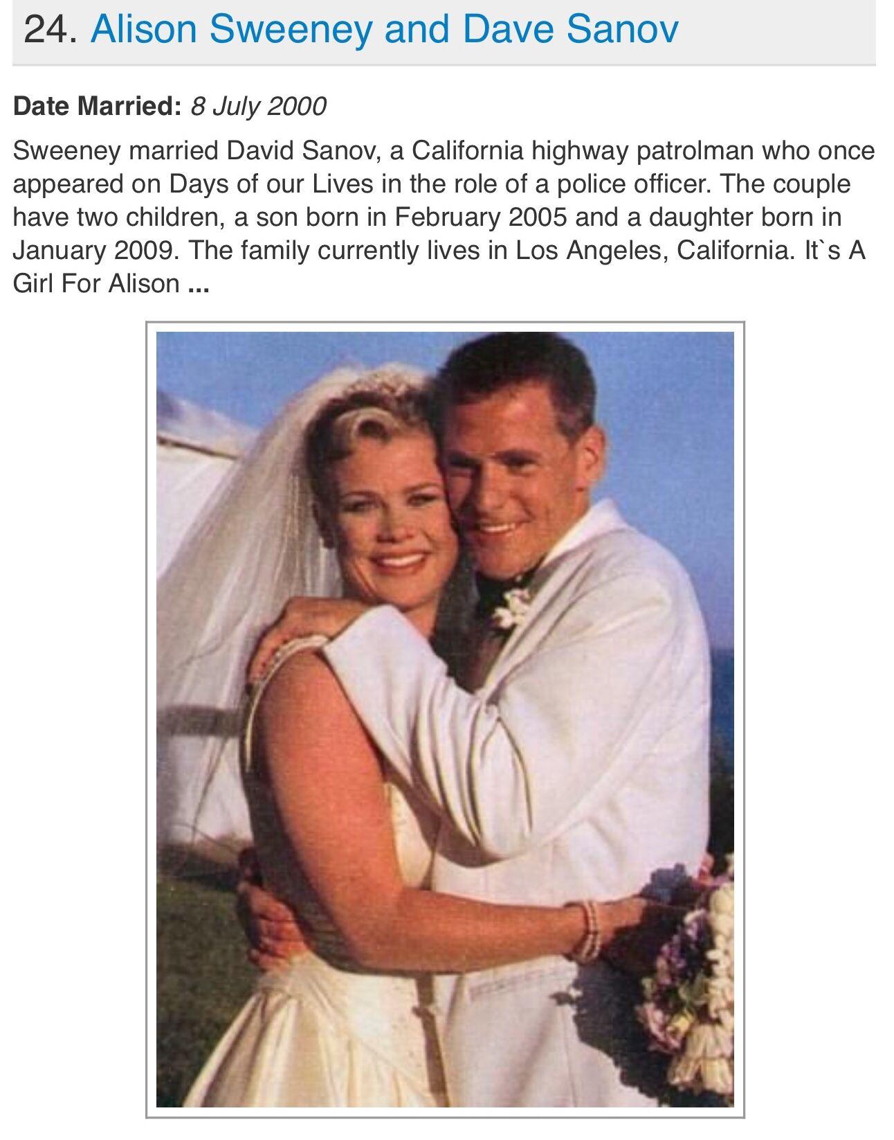 Alison Sweeney Family Pictures alison sweeney wedding   celebrity weddings, alison sweeney