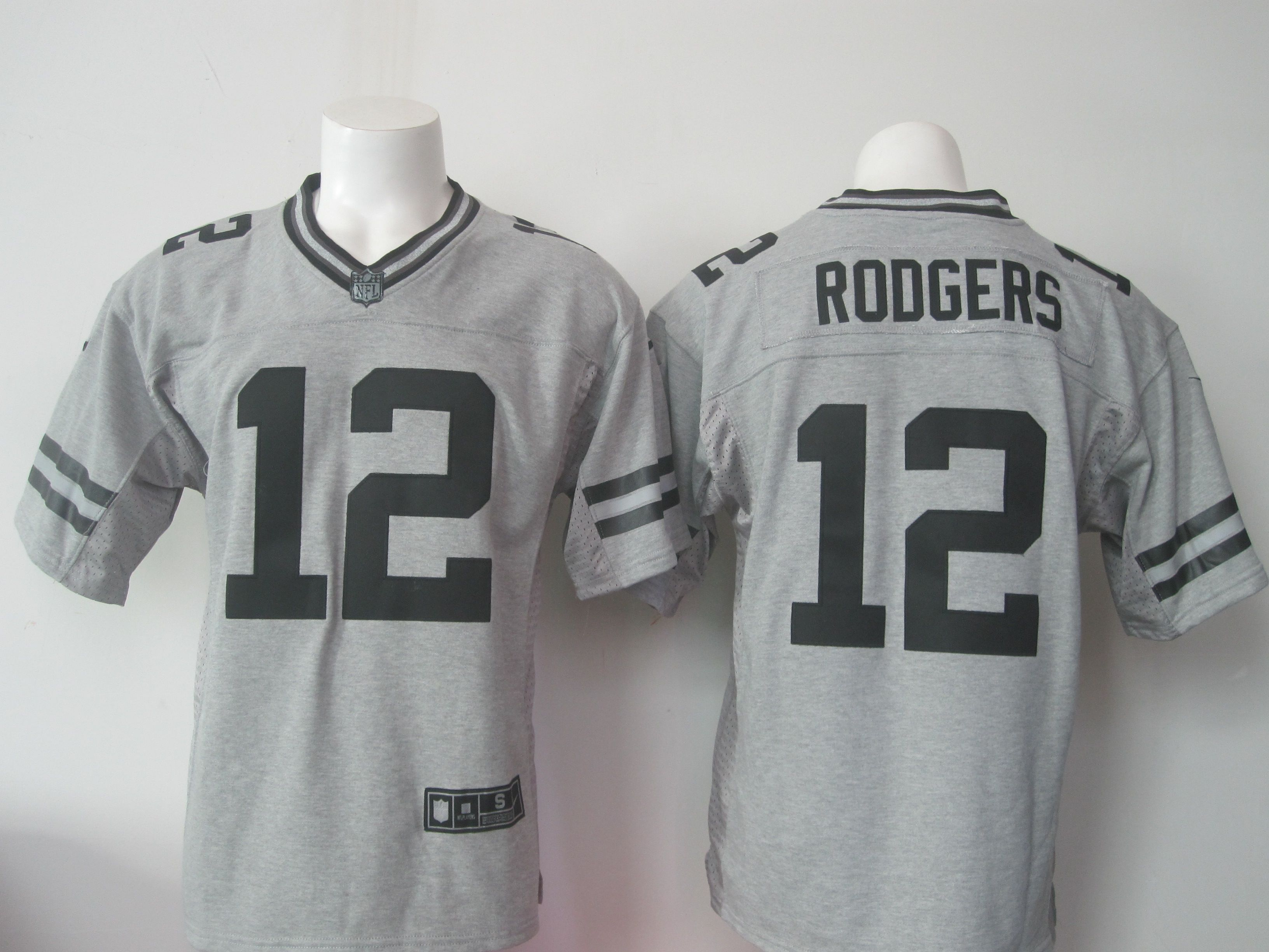 NFL Packers 12 Aaron Rodgers Nike Gridiron Gray Mens Limited Jersey ... ac143d657