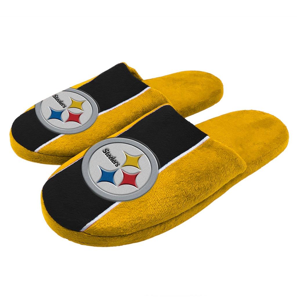 986bded64aa Men s Pittsburgh Steelers Slide Slippers