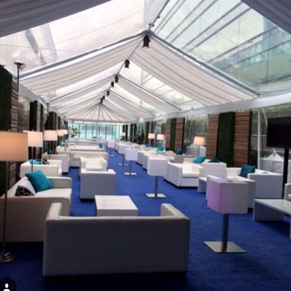 Corporate event lounge using designer8