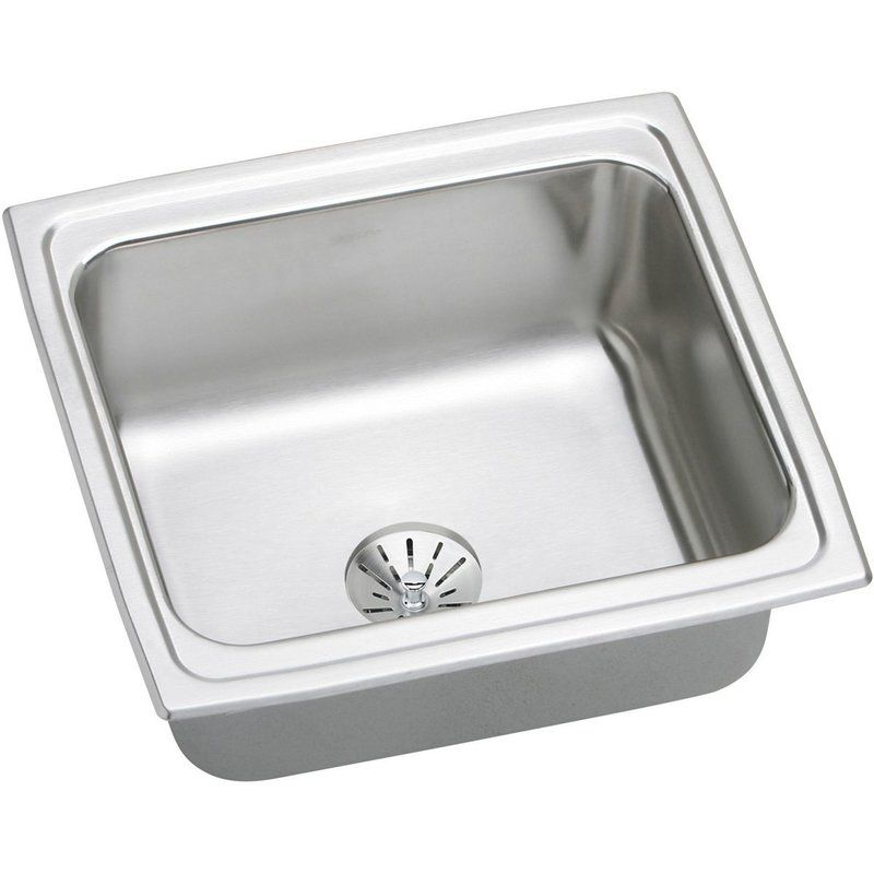 Awesome Gourmet 19 X 18 Stainless Steel Single Bowl Top Mount Bar Sink With Price :  $