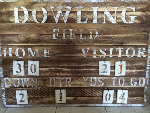 Customized Rustic Football Vintage Sports Scoreboard Vintage