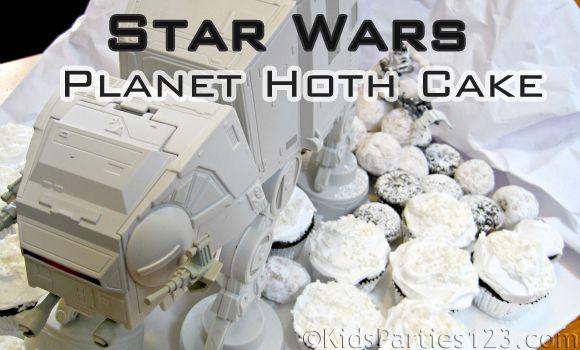Star Wars AT-AT Walker Birthday Cake   KidsParties123.com #starwars #cakes