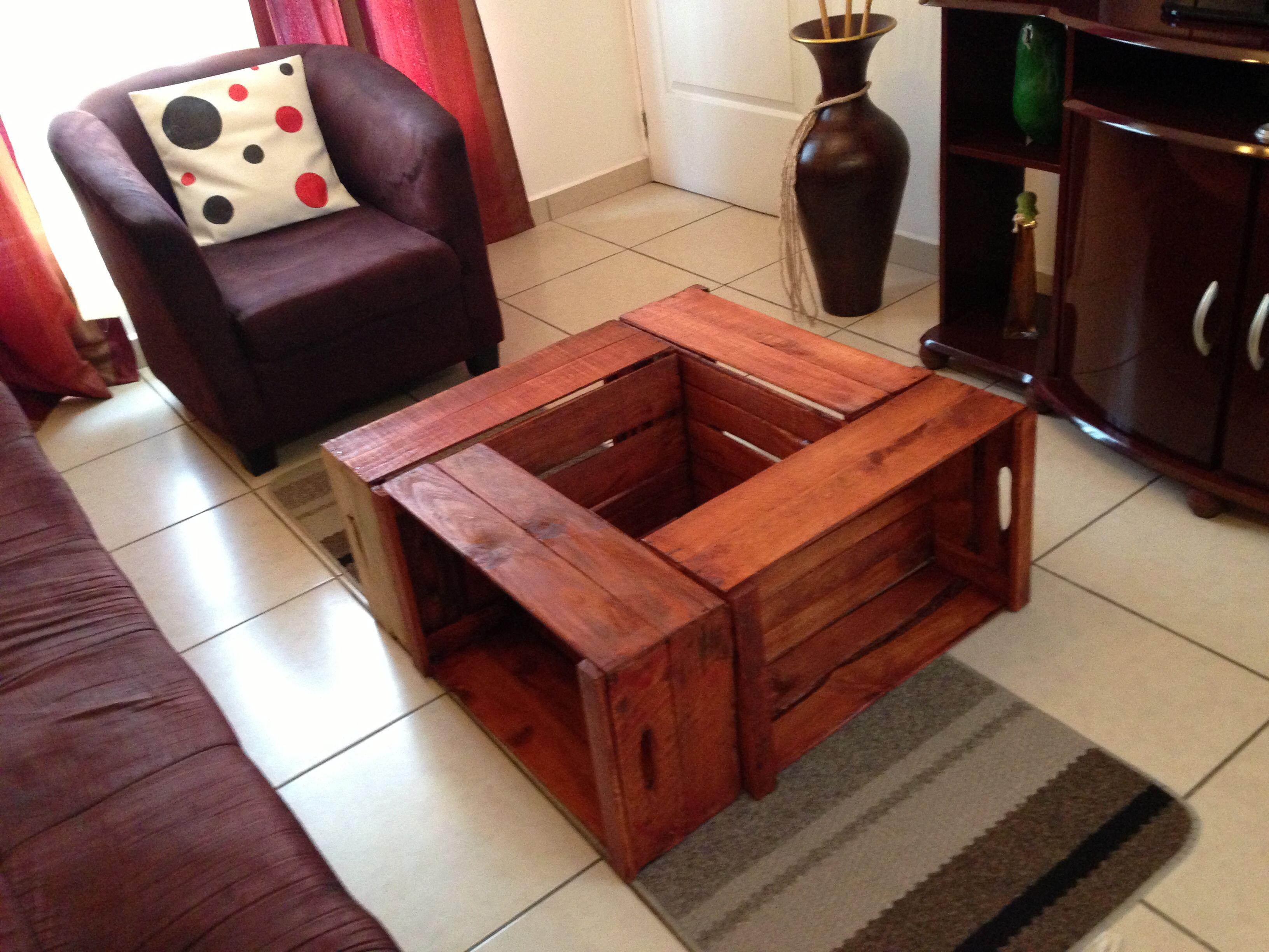 Mesa de centro hecha con cajas de verduras | patio | Pinterest ...