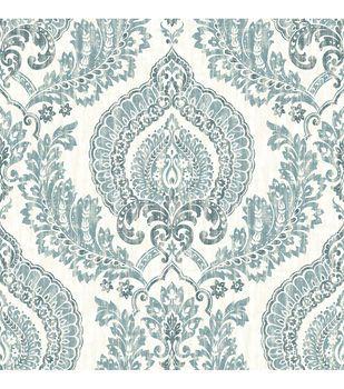 Wallpops Nuwallpaper Navy Kensington Damask Peel Stick Wallpaper Damask Wallpaper Nuwallpaper Blue Wallpapers