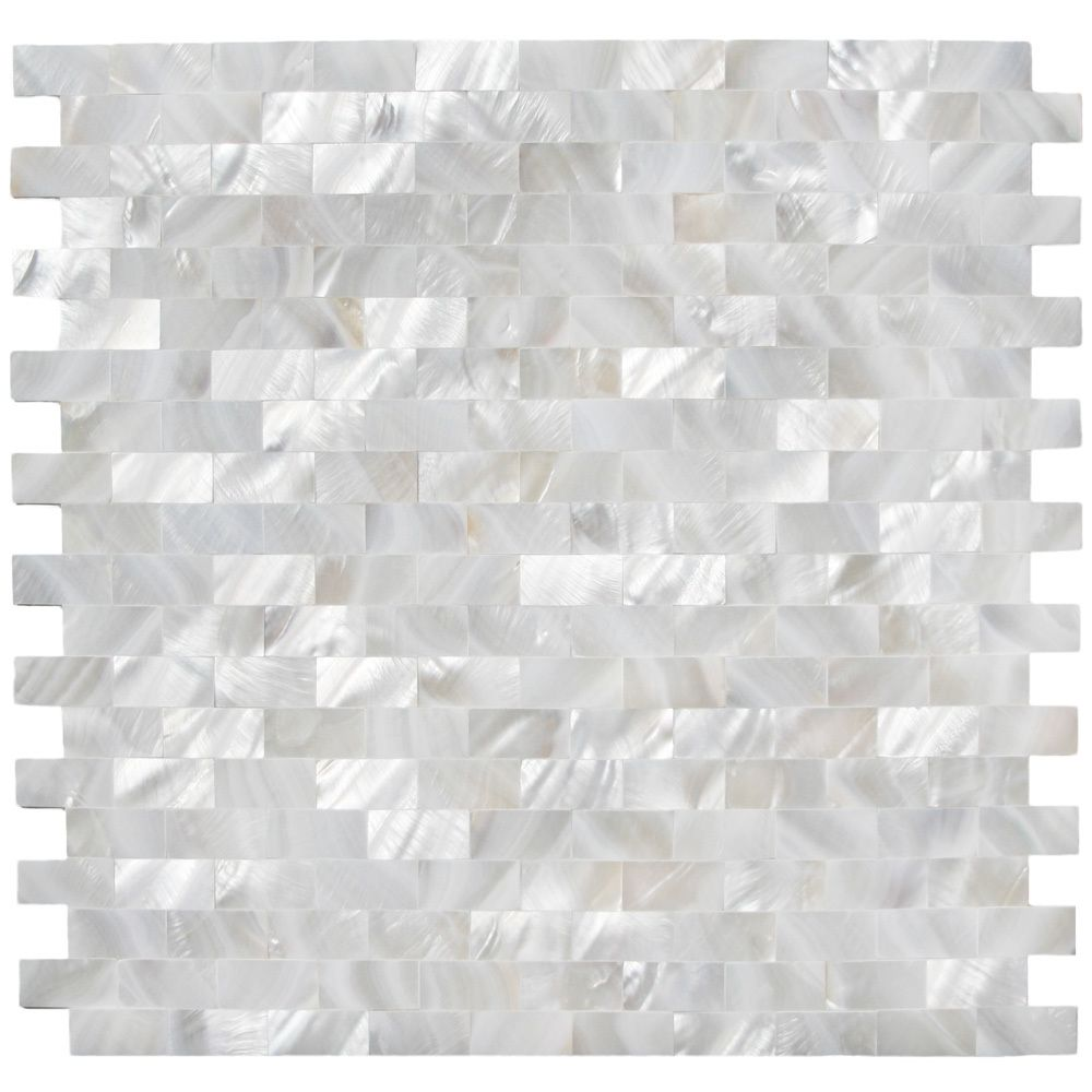 White brick groutless pearl shell tile pebble tiles bricks and white brick groutless pearl shell tile dailygadgetfo Images