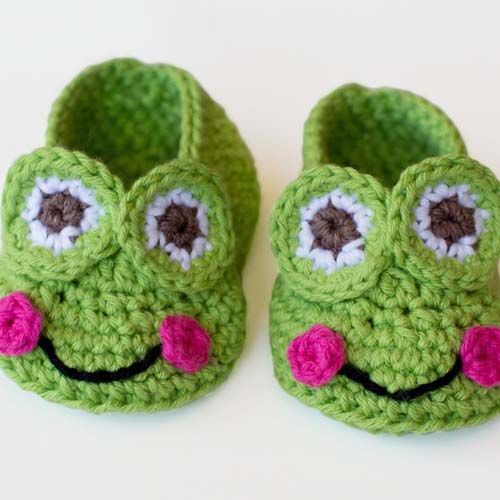 Frog Booties for Baby – Free Crochet Pattern | Babyschühchen ...