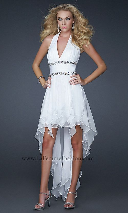 Like The Bust And Bling Under Breast But Bottom Too Short High Low Halter Top Wedding Dresses