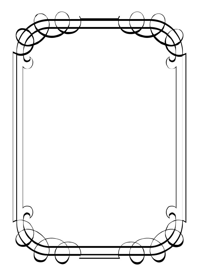 fancy border template