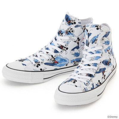 Converse Chuck Taylor ALL STAR 100 MICKEY MOUSE SURFIN HI 2017 Limited Model JAPAN Disney