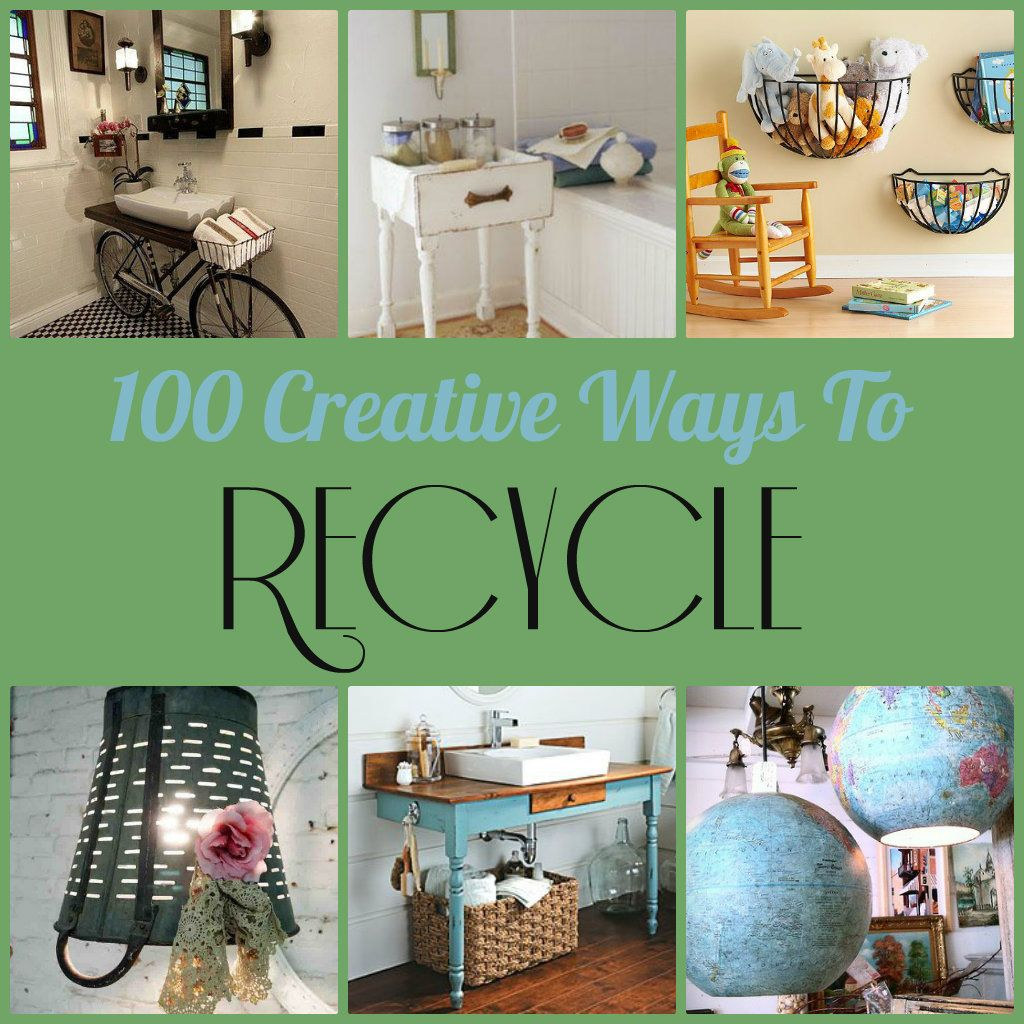 Diy 100 home decor projects made by repurposing for Recycled decoration crafts