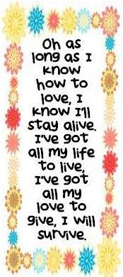 Gloria Gaynor I Will Survive Music Lyrics Favorite Lyrics Lyrics