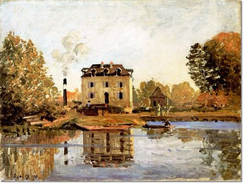 Alfred Sisley - Factory in the Flood Bougival