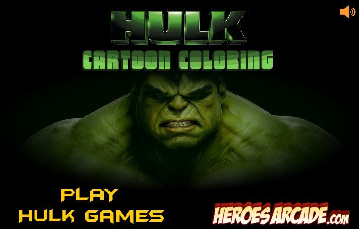 Hulk Cartoon Coloring Game Online Online Games For Kids Fun Online Games Hulk