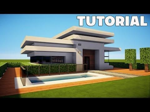 Minecraft How To Build A Small Modern House Tutorial Easy Survival Minecraft House Minecraft Small Modern House Modern Minecraft Houses Minecraft Modern