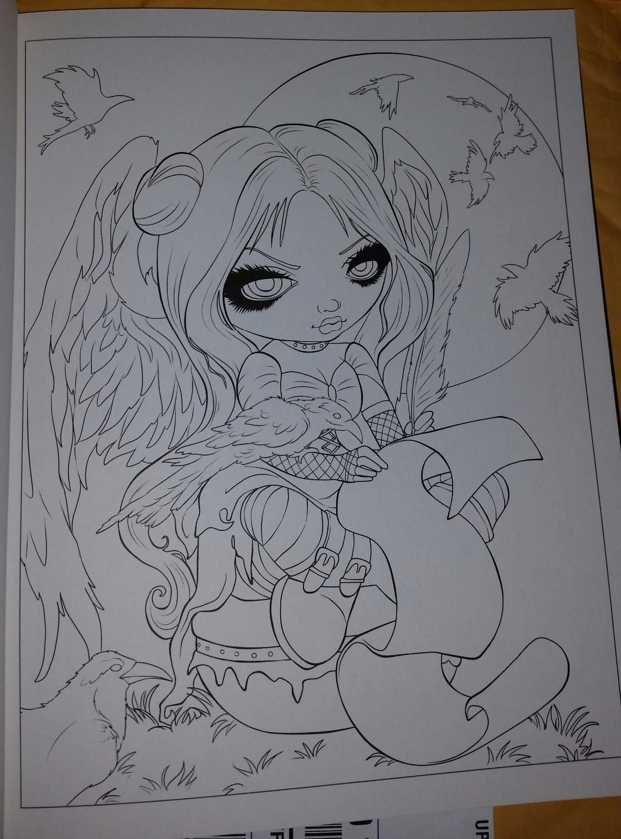 Jasmine Becket Griffith Coloring Book A Fantasy Art Adventure Fairy Coloring Pages Cute Coloring Pages Halloween Coloring Pages