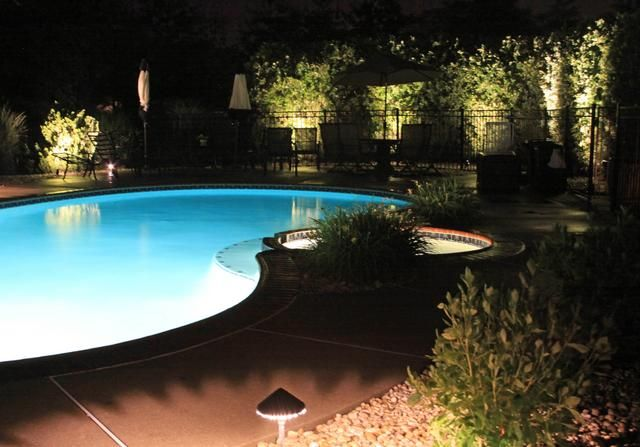 Outdoor Lighting Around Pool Decoration Solutions