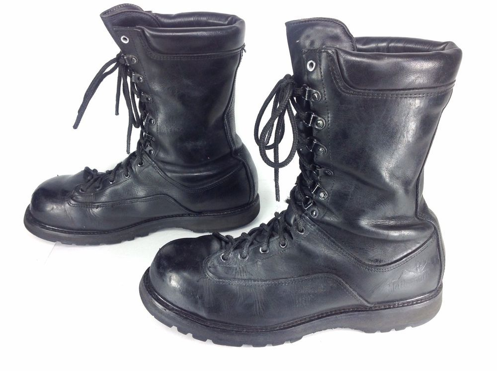 Fab find Mens Matterhorn Black Leather Steel Toe Combat Military ...