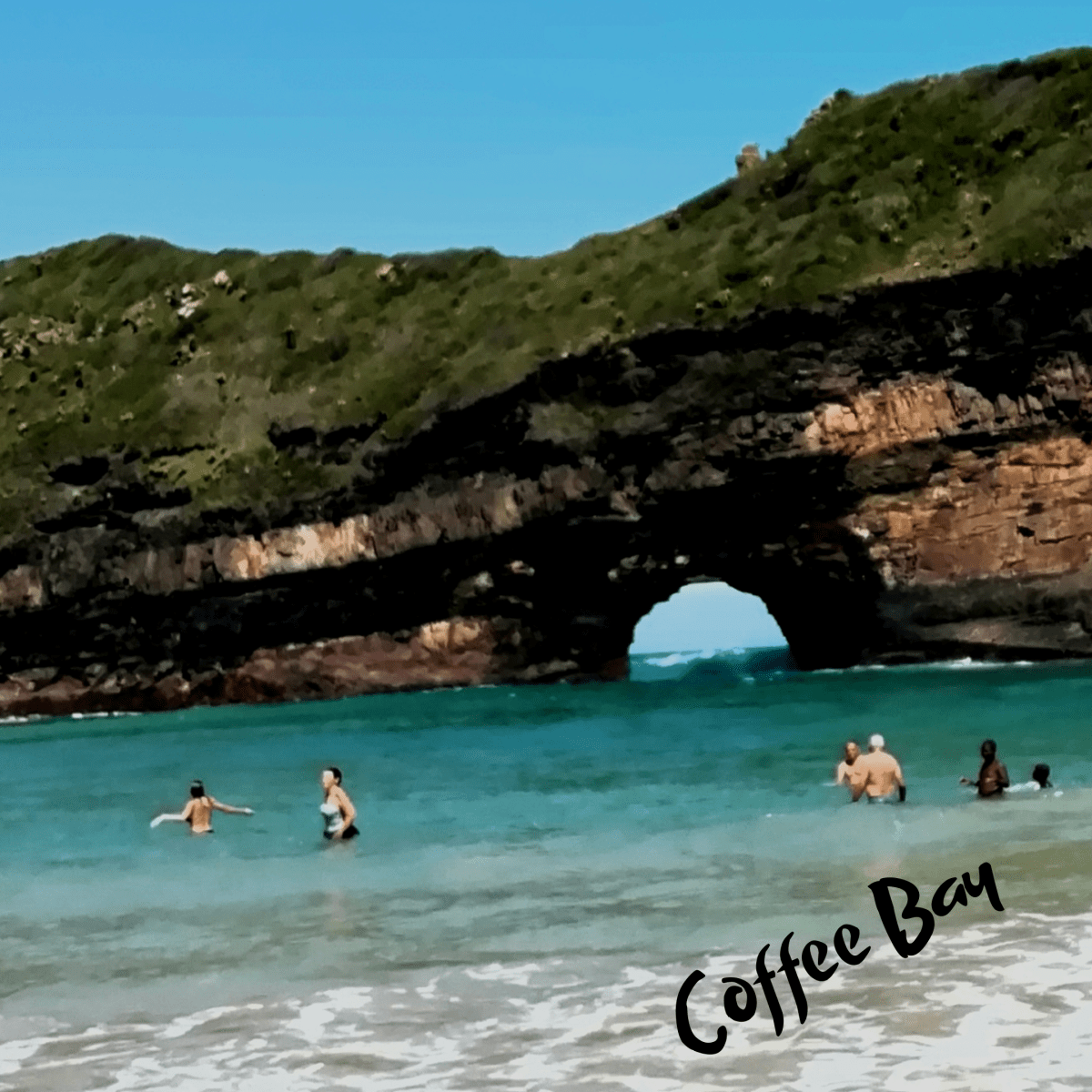 coffee bay in transkei south africa coffee bay sun on hole in the wall rock formation eastern cape id=86054