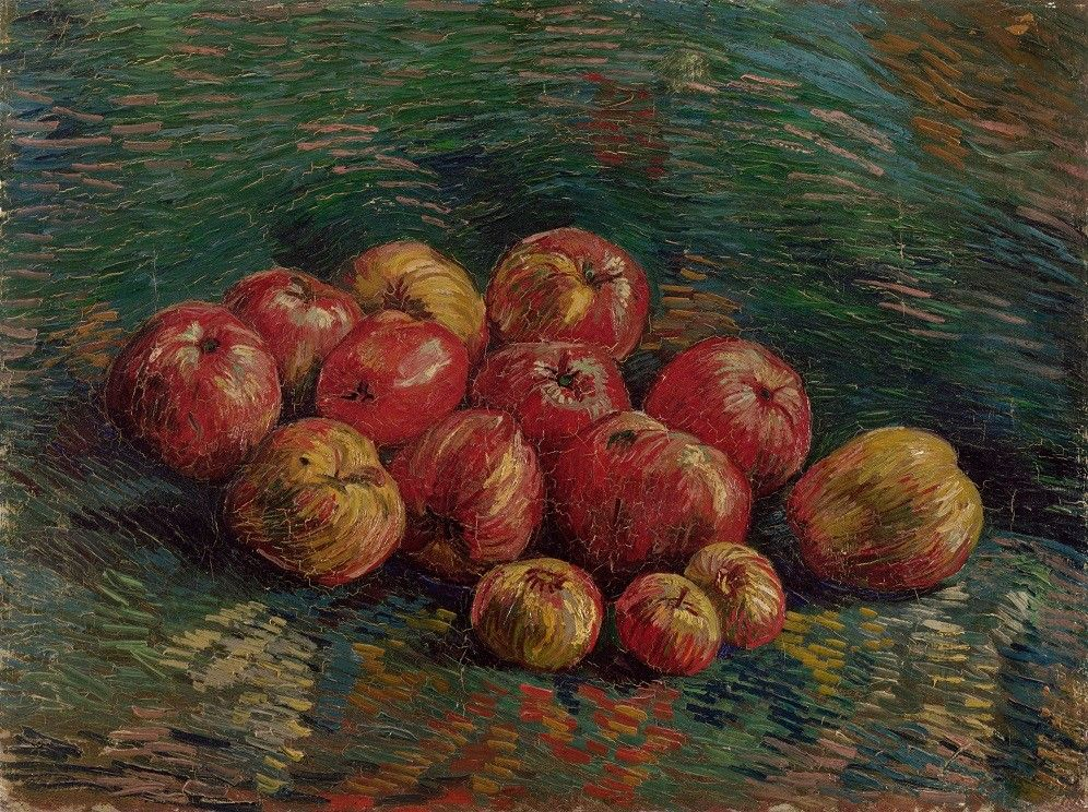 Vincent Van Gogh   Apples, September-October 1887.  Oil on canvas, 45.7 cm x 60.4 cm.  Van Gogh Museum, Amsterdam.